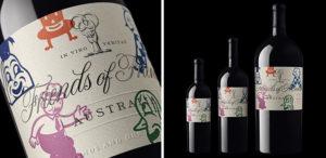 artist wine label